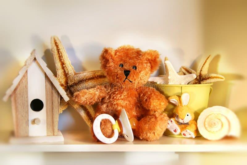 mały niedźwiedź rusty teddy fotografia stock