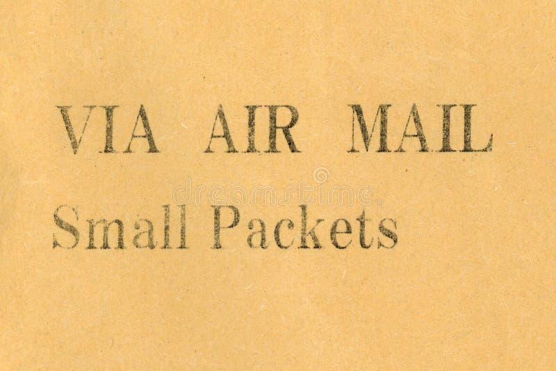 mały paczki airmail zdjęcie stock
