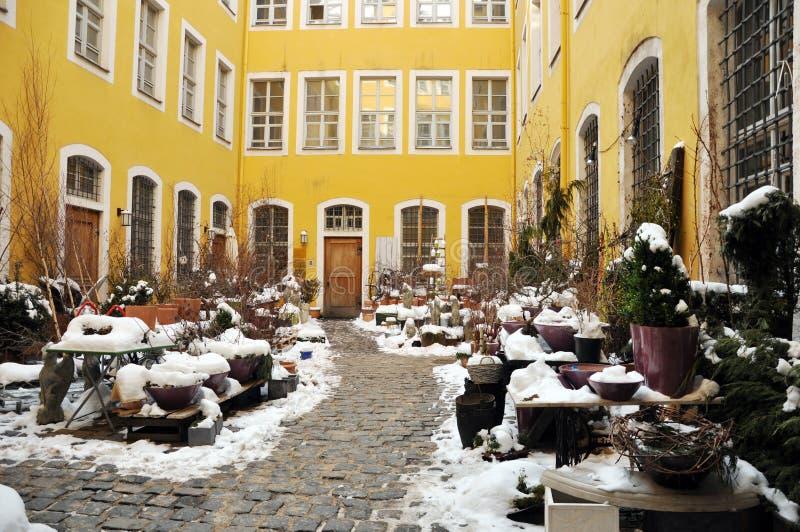 Mały patio zdjęcie royalty free