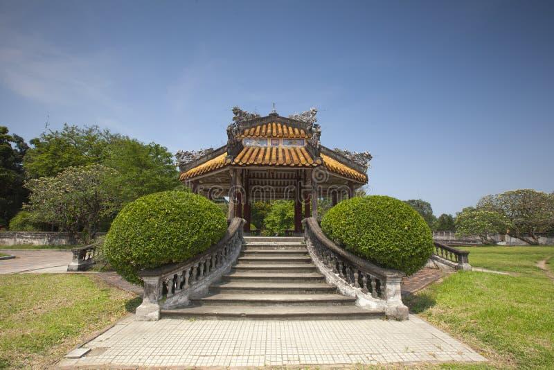Mały pawilon w odcień cytadeli, Wietnam zdjęcia royalty free