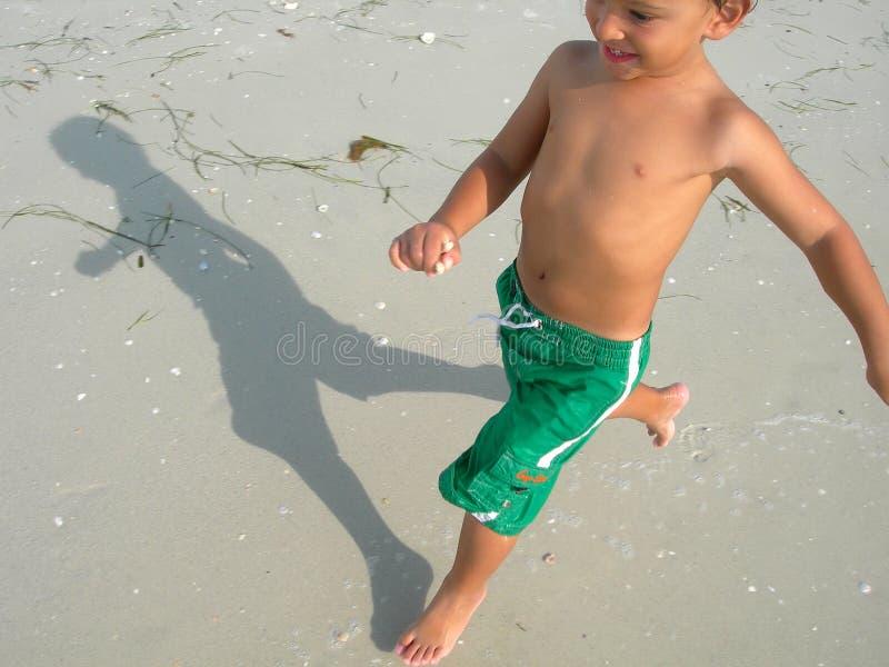 mały plażowy grać zdjęcia stock