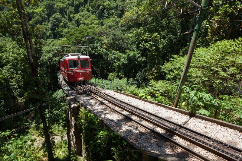 Mały pociąg Corcovado zdjęcia royalty free