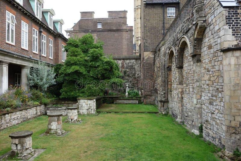 Mały podwórze, opactwo abbey. zdjęcia royalty free