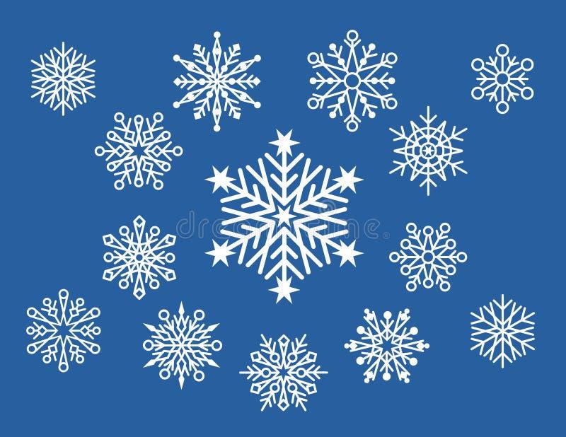mały projekt płatek śniegu royalty ilustracja