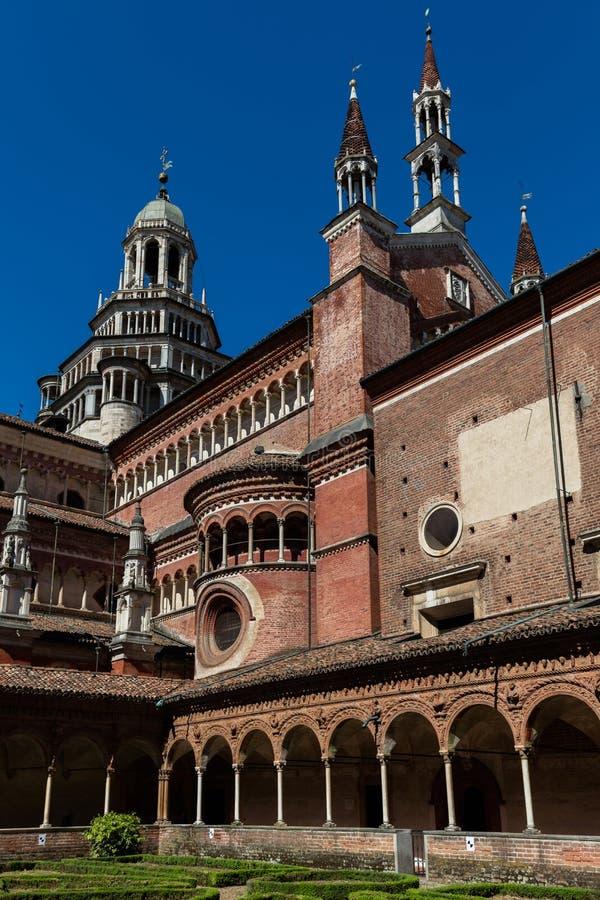 Mały przyklasztorny Certosa di Pavia monaster, Włochy fotografia stock