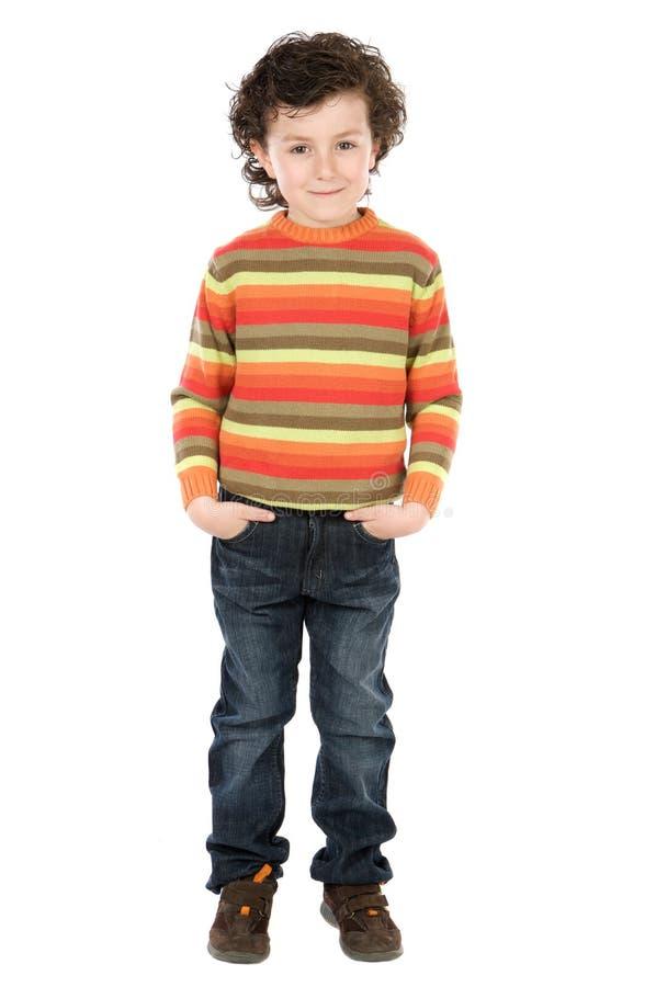 mały przystojny chłopiec zdjęcia stock