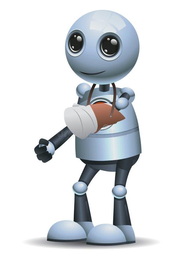 Mały robot łamający ręka uraz ilustracji