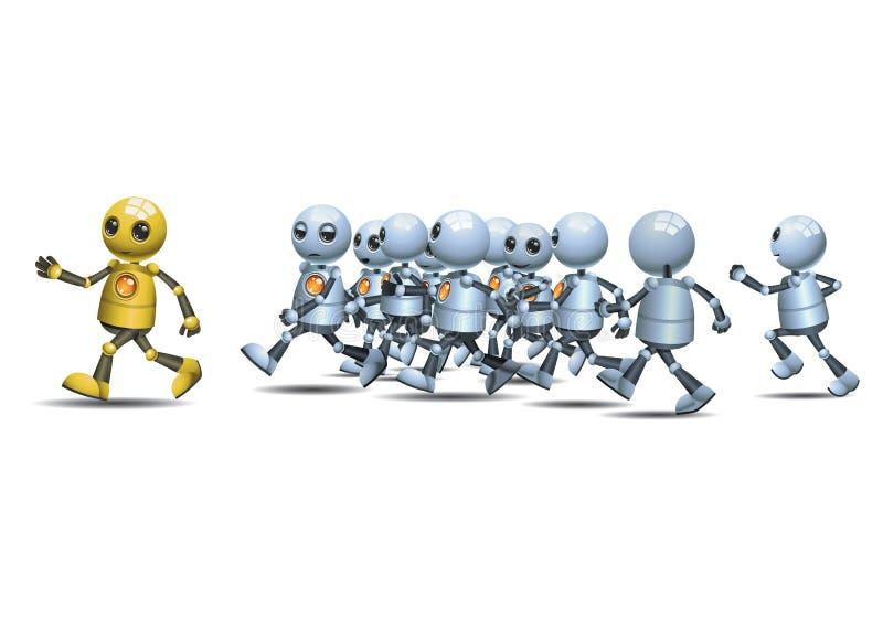 Mały robota prowadzić bieg paczka royalty ilustracja