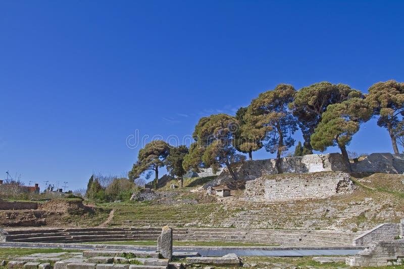Mały Romański amfiteatr obrazy stock