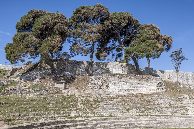 Mały Romański amfiteatr obrazy royalty free