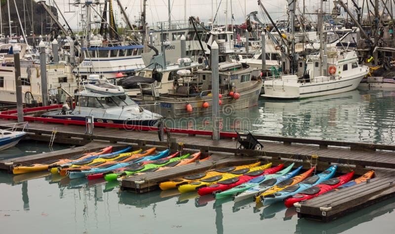 Mały rzemiosła marina przy valdez obrazy stock