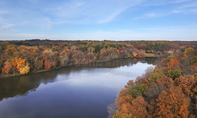 Mały Seneca jezioro przy Czarnym wzgórza Reginal parkiem obrazy stock