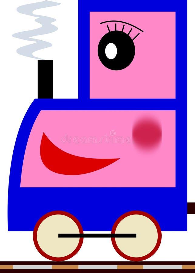 mały serii pociąg dziewczyna ilustracji