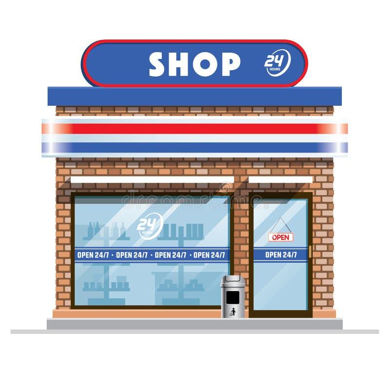 Mały sklep wielobranżowy royalty ilustracja