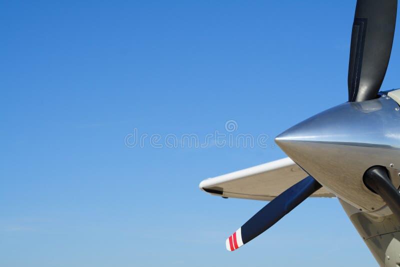 mały skrzydła samolotu wysoko obrazy stock