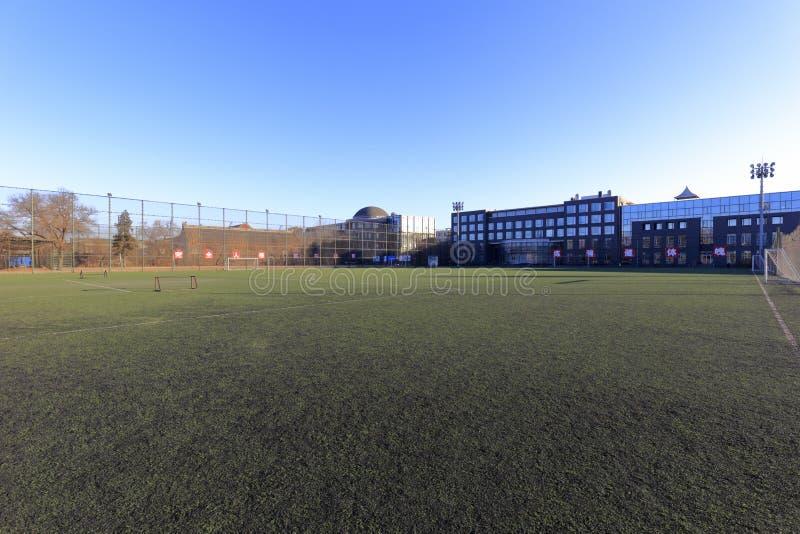 Mały stadion futbolowy uniwersytet pekiński, adobe rgb fotografia stock