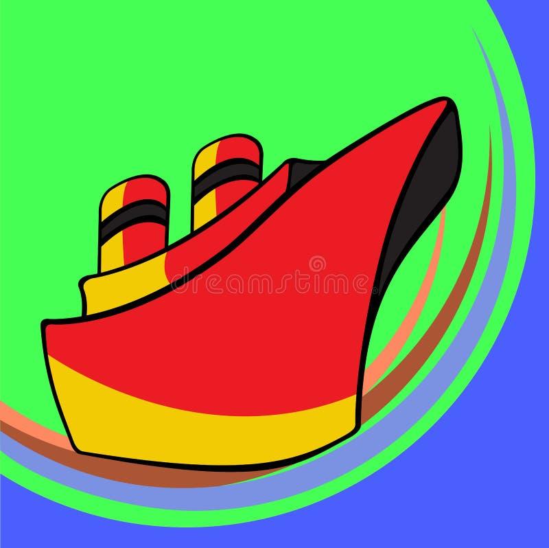 Mały statek ilustracja wektor