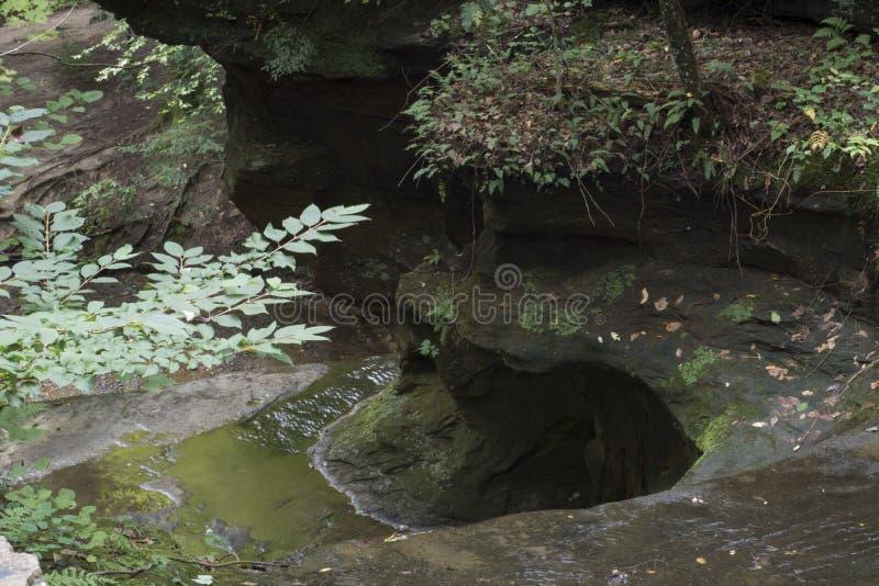 Mały strumień z rockowym wypustem fotografia royalty free