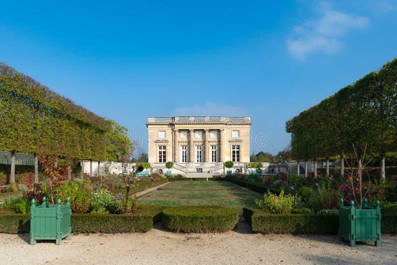 Mały trianon w parku pałac Versailles obraz royalty free