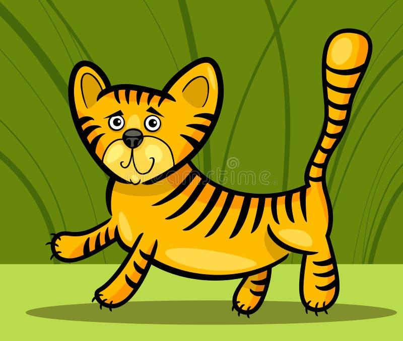 Mały tygrys kreskówki ilustracja ilustracji