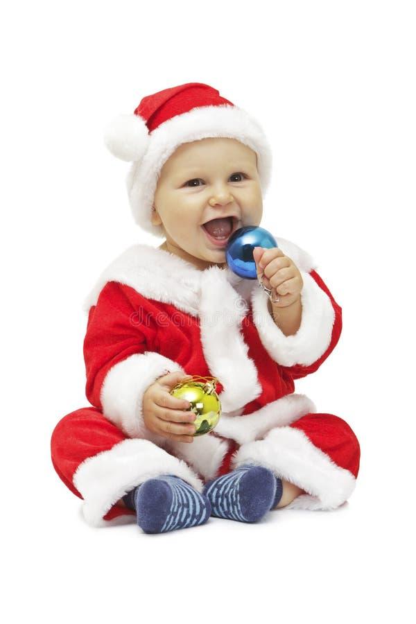 Mały uśmiechnięty Santa fotografia stock