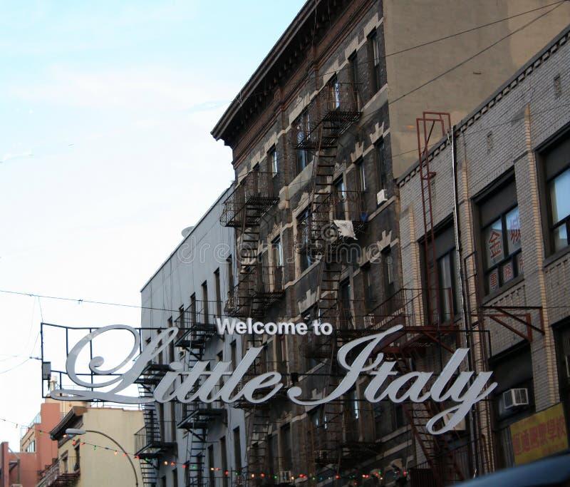 Mały Włochy znak NYC fotografia royalty free