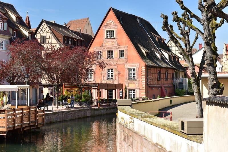 Mały Wenecja Colmar Miasteczko Colmar, Alsace region, Francja zdjęcie royalty free