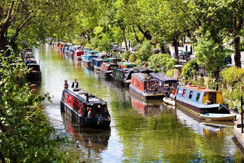 Mały Wenecja, Regent ` s kanał Londyn, Anglia, - zdjęcia royalty free