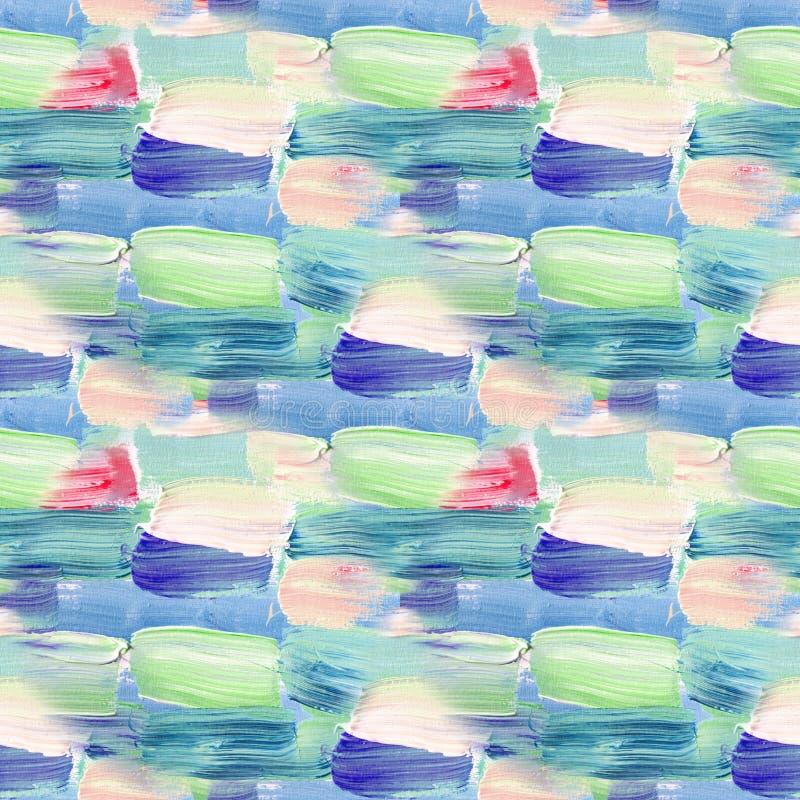 Mały wzór z krótka ręka rysującymi uderzeniami Bezszwowa tekstura w impresjonizmu stylu dla sieci, druk, tkanina, tkanina, strona ilustracja wektor
