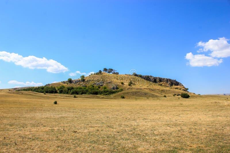 Mały wzgórze i valey zdjęcia stock