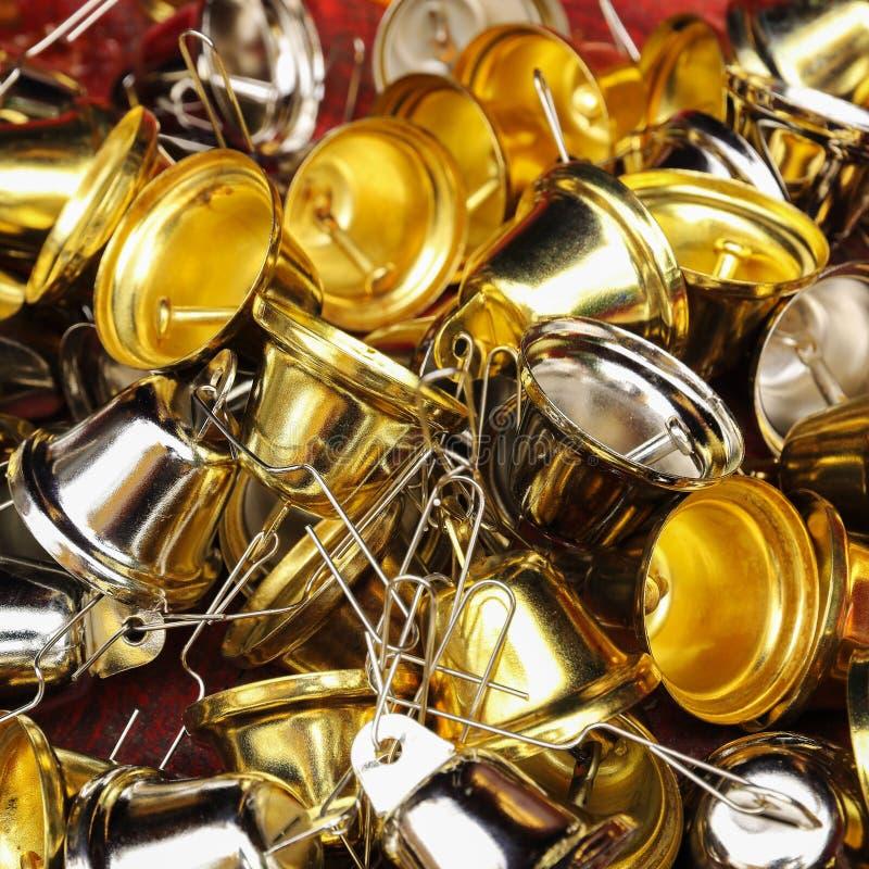 mały złoto i srebni dzwony fotografia stock