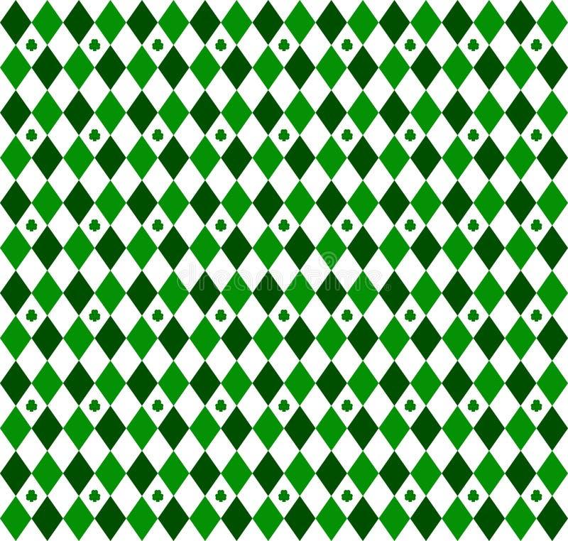 mały zielony różnokolorowy wzór w robieniu na drutach ilustracja wektor