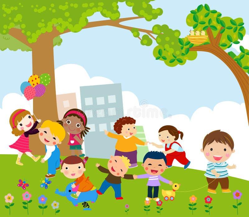 Małych dzieci bawić się ilustracja wektor