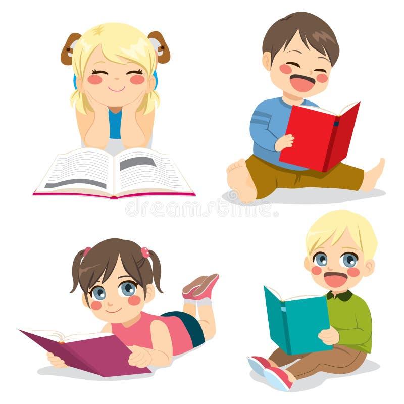Małych Dzieci Czytać ilustracja wektor