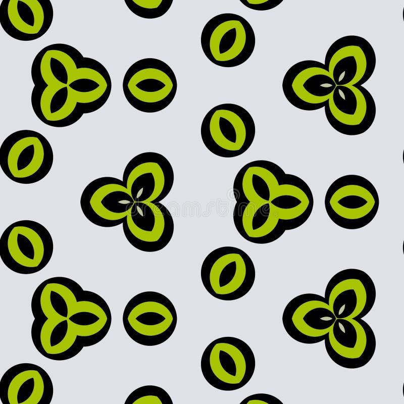 Małych i zielonych kwiatów cyfrowa sztuka ilustracji