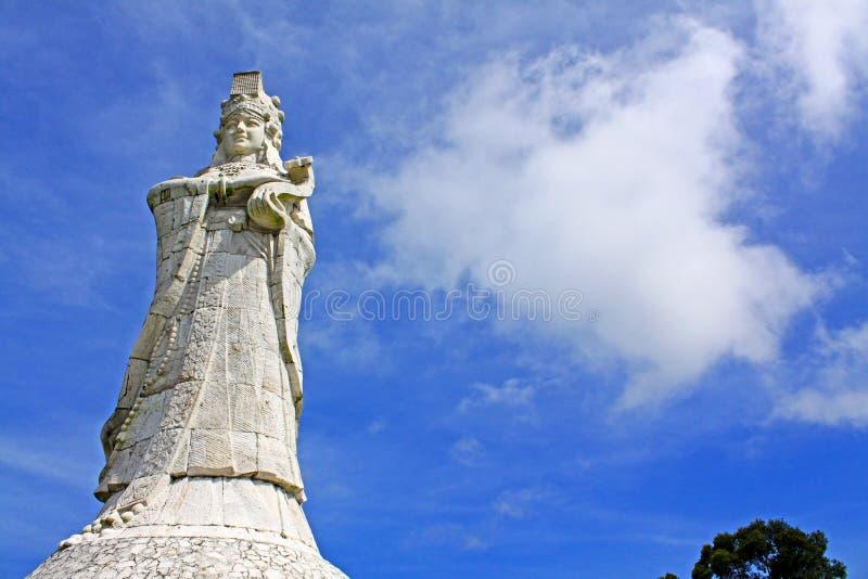 Ma女神雕象,澳门,中国 库存照片