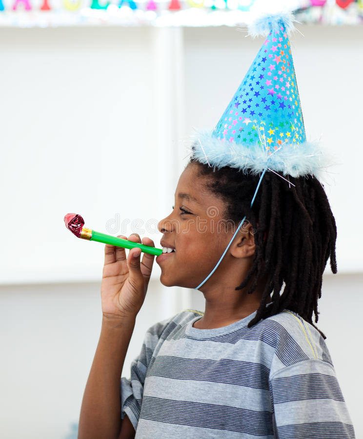ma byczego przyjęcia chłopiec urodzinowa zabawa zdjęcia royalty free