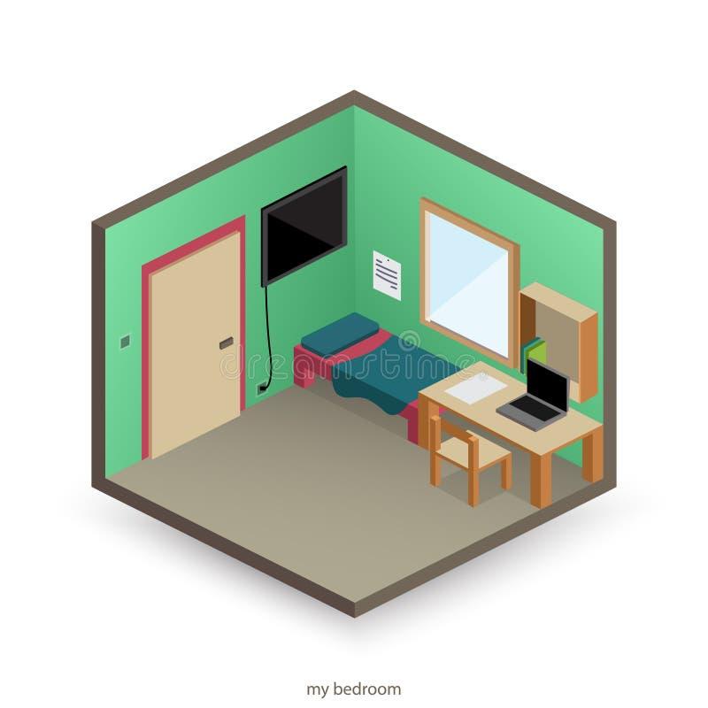 Ma chambre à coucher illustration libre de droits