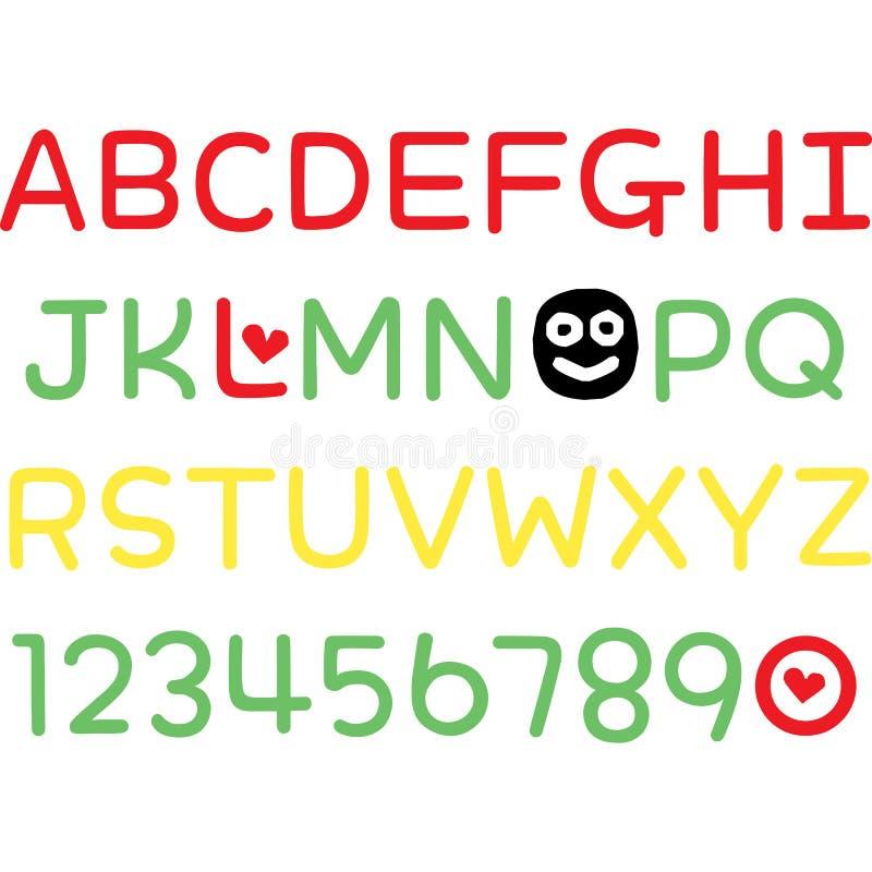 Ma conception d'alphabet illustration libre de droits