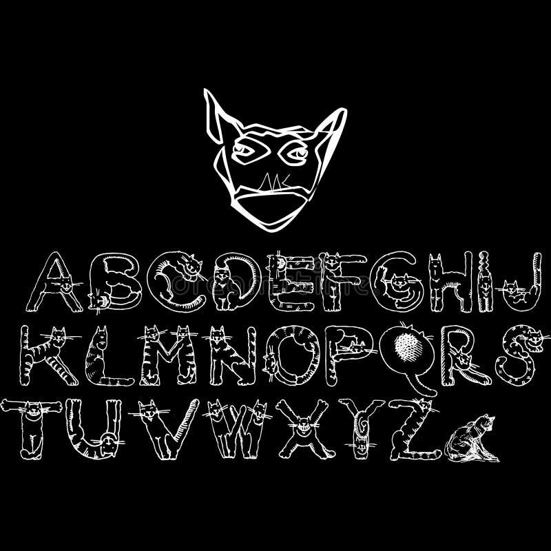 Ma conception d'alphabet pour le T-shirt illustration libre de droits