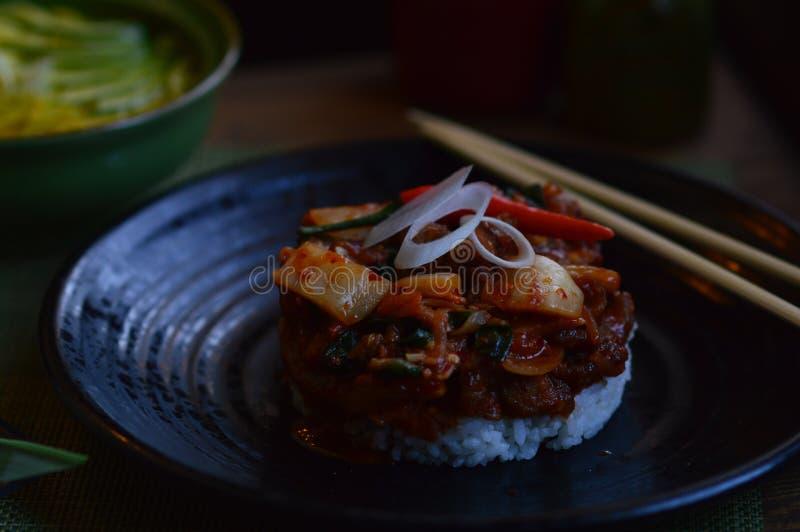 Ma cucina dell'asiatico dei here's immagini stock libere da diritti