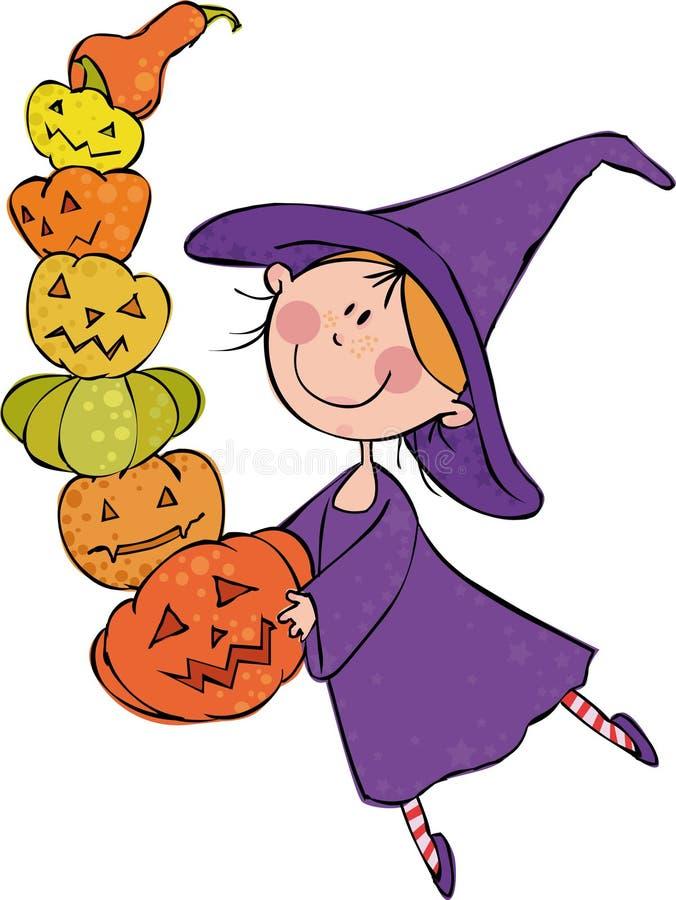 Download Mała czarownica ilustracja wektor. Obraz złożonej z przekąska - 11161167