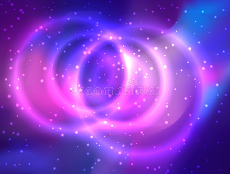 Ma galaxie Illustration colorée lumineuse de cosmos de vecteur avec le sacre illustration stock