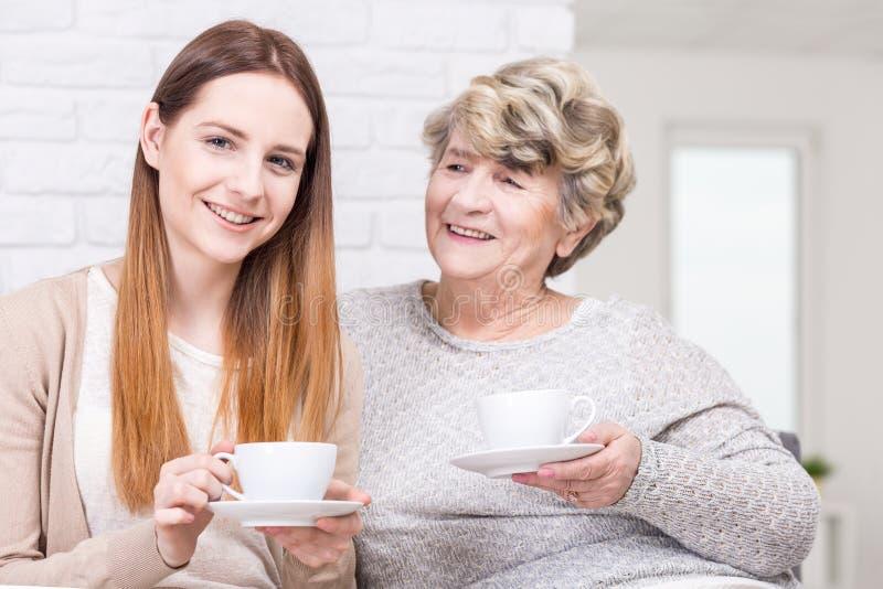 Ma grand-maman est également mon meilleur ami image libre de droits