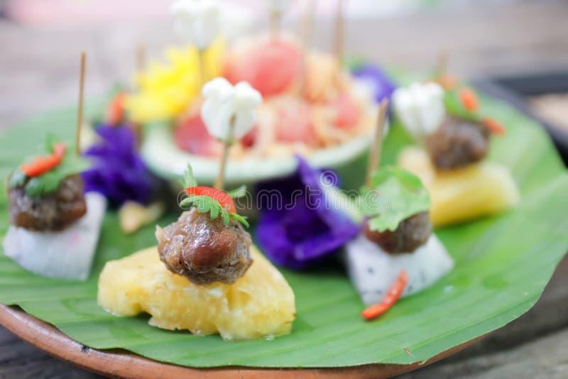 Ma hor traditionell thai-snack arkivbilder