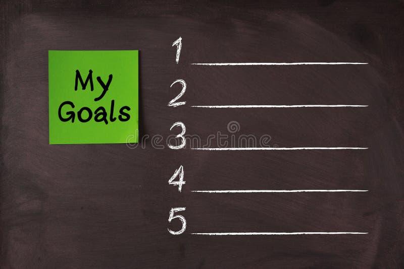 Ma liste de buts images libres de droits