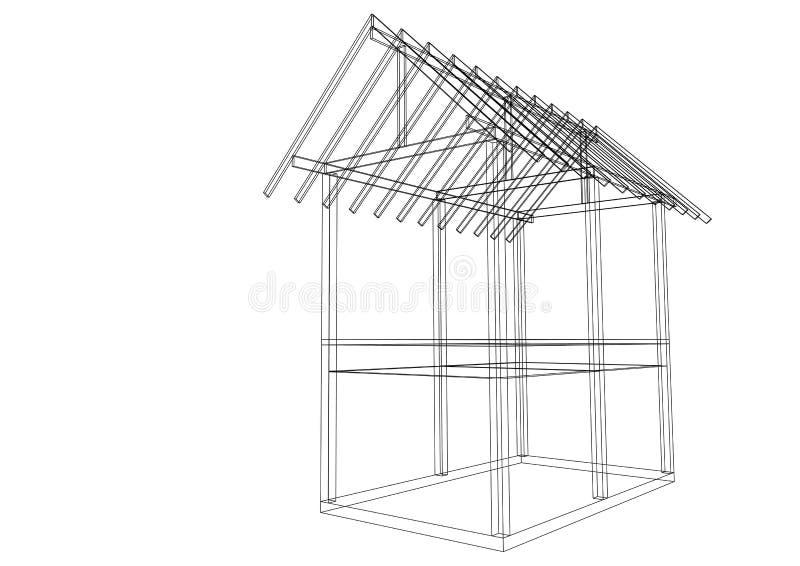 Ma Maison De Structure De Toit De Dessin DIllustration Illustration
