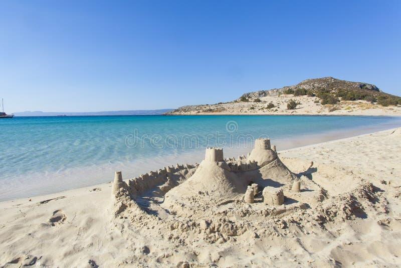 Ma maison sur la vue de mer de plage images libres de droits