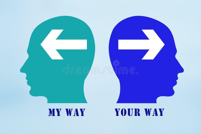 Ma manière votre signe de manière illustration libre de droits