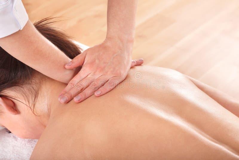 ma masaż tylna dziewczyna obrazy royalty free